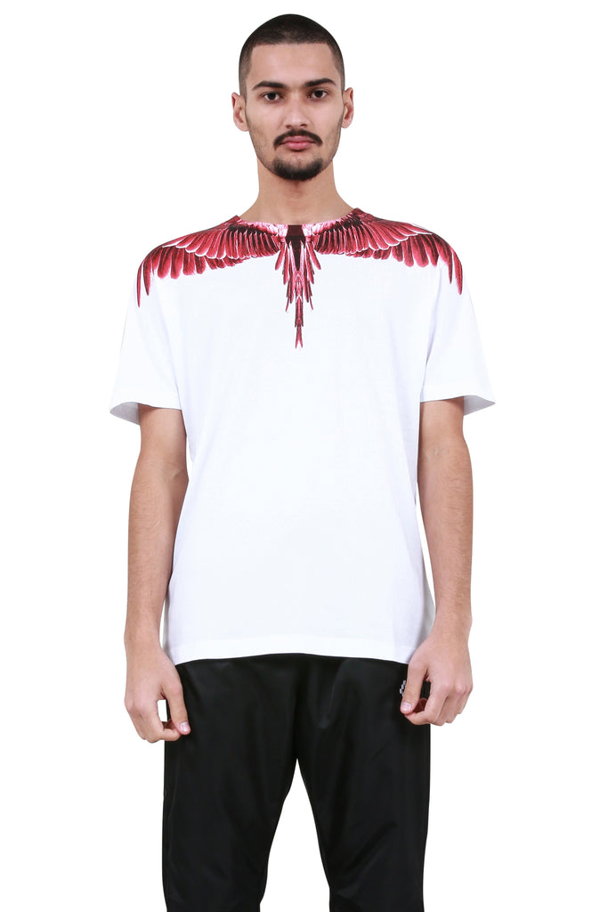 Red Ghost Wings T-Shirt - White/Multicolor