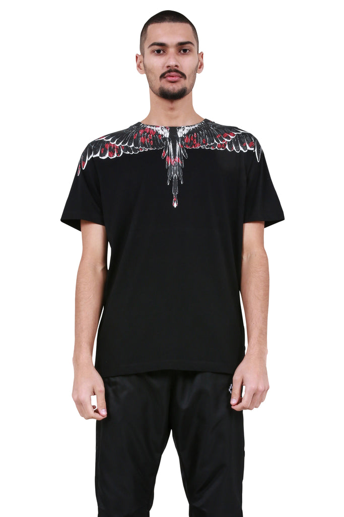 Flower Wings T-Shirt - Black/Multicolor