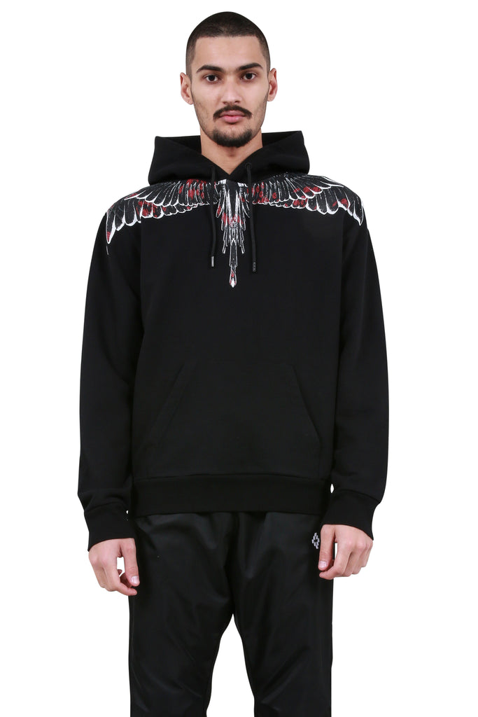 Flower Wings Hoodie - Black/Multicolor