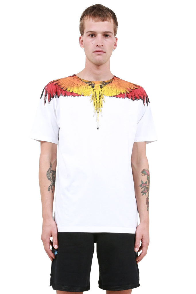 MARCELO BURLON: Glitch Wings T-Shirt - White | LESSONS
