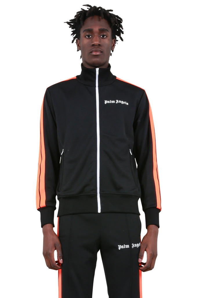 Fluoro Track Jacket - Black/Fluoro Orange