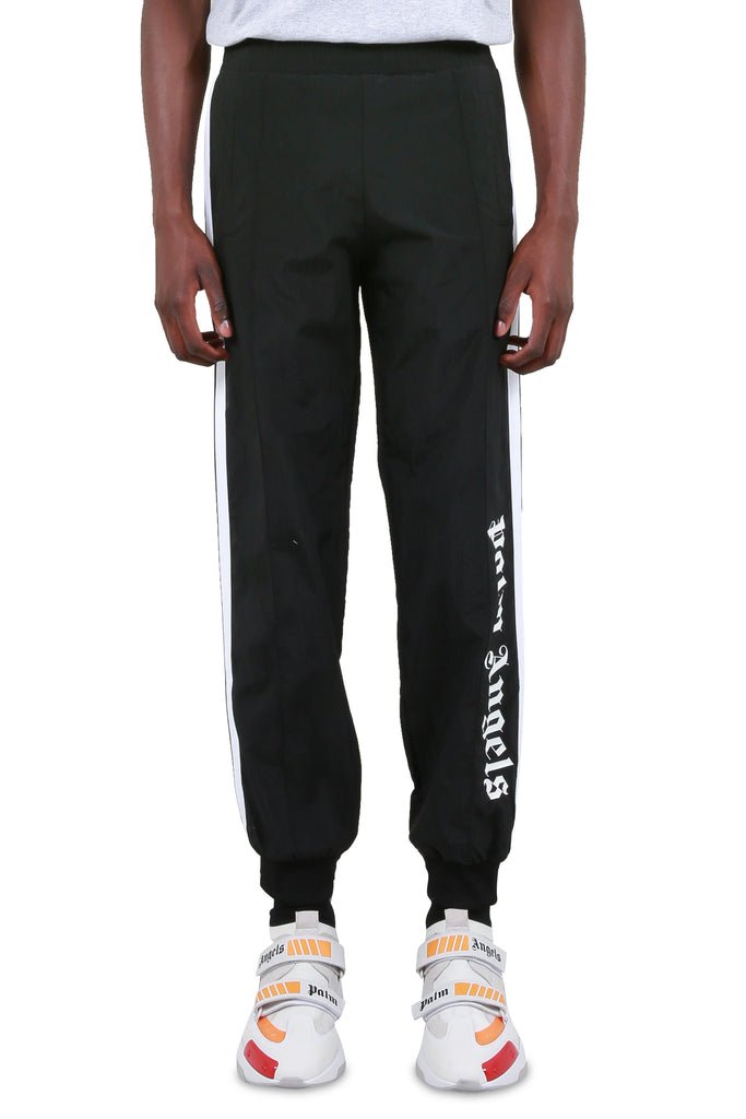 Over Logo Track Pants - Black/White