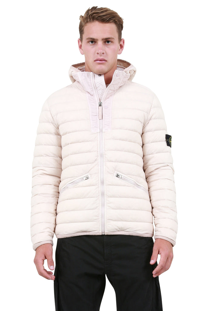 Woven Down Jacket - Stucco