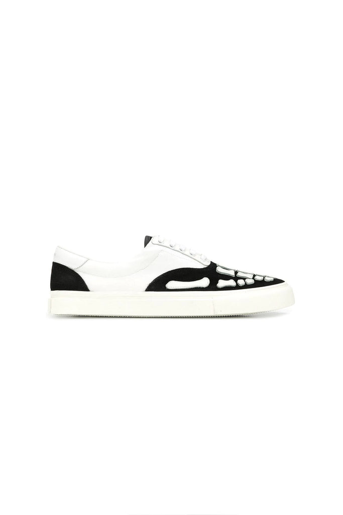 Skeleton Toe Lace-up Sneakers - Black