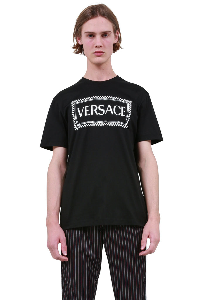 VERSACE: Box Logo T-Shirt - Black | LESSONS