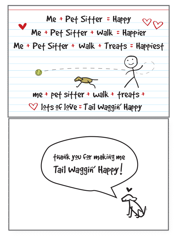 Tail Waggin Pet Sitting Card