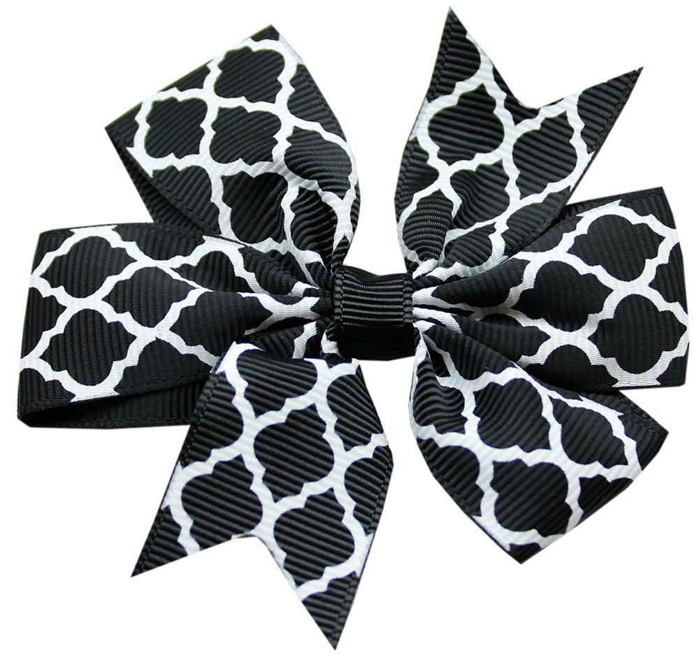 Hair Bow Quatrefoil w/ Alligator Clip
