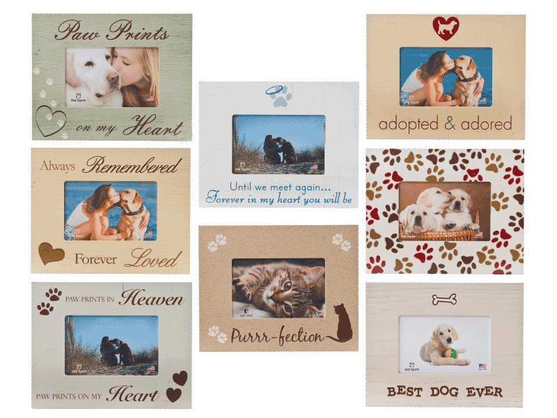 All Over Paw Print Frame – Rocky & Maggie\'s Pet Boutique and Salon