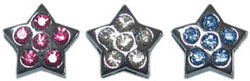 Jewel Star Charm for Slider Collar