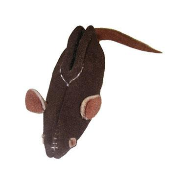 All Natural Leather Mouse Cat Toy - Rocky & Maggie's Pet Boutique and Salon