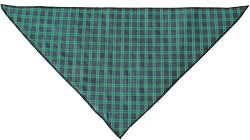 Green Plaid Tie-On Pet Bandana