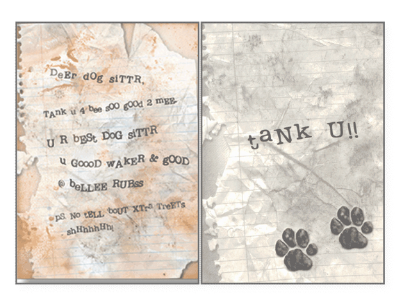 Dog Letter Pet Sitter Card - Rocky & Maggie's Pet Boutique and Salon