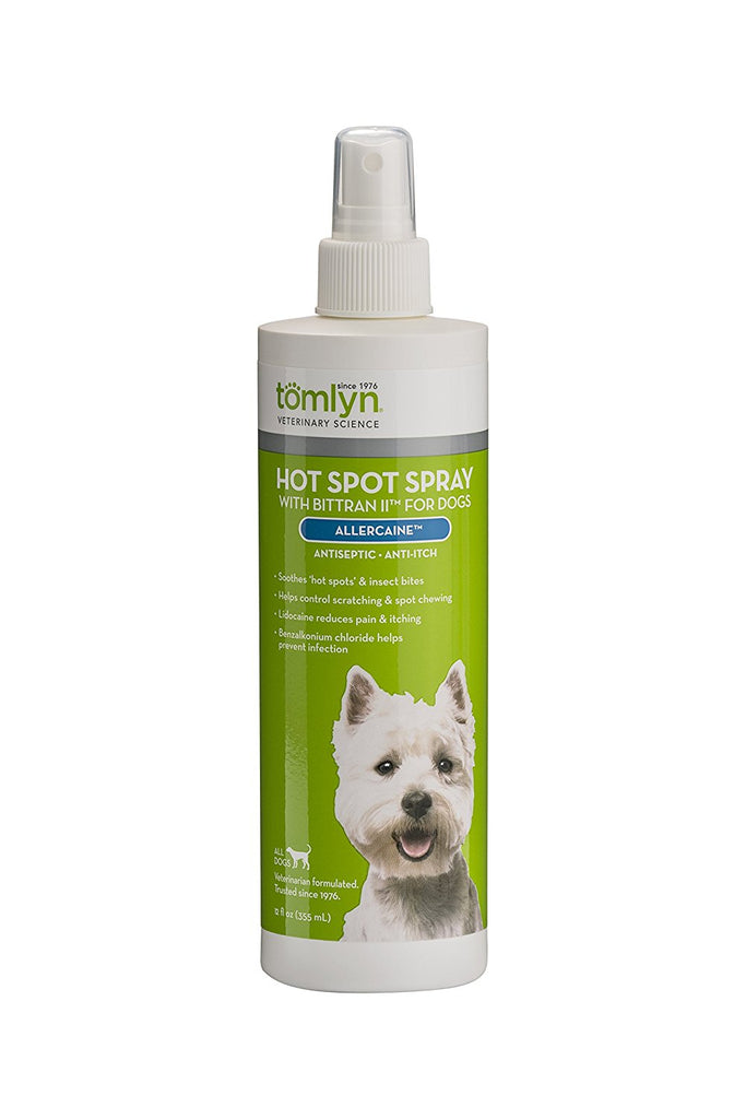Hot Spot Spray with Bittran II for Dogs, (Allercaine) 12oz