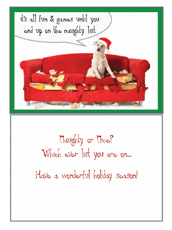 Naughty Or Nice Holiday Greeting Card