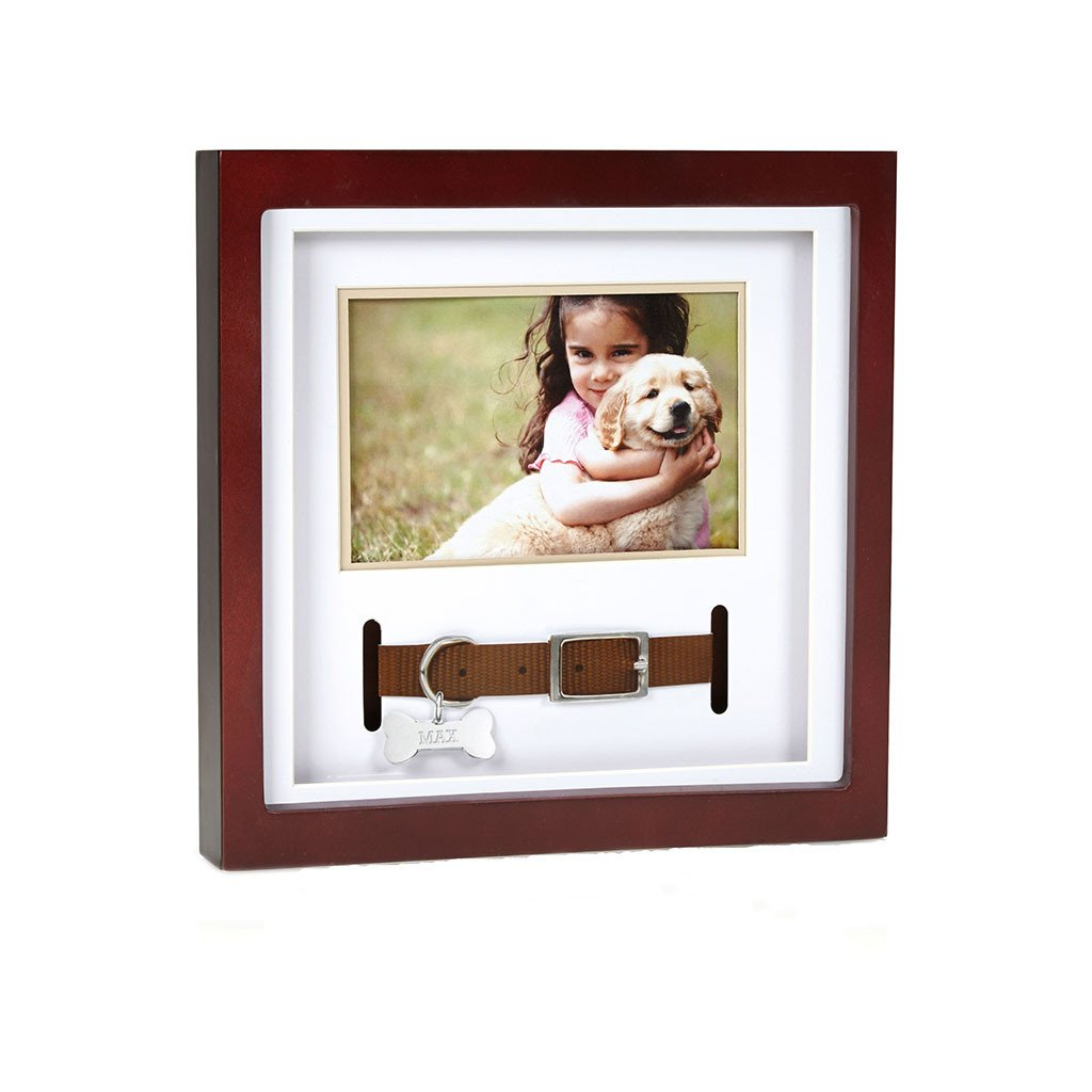 Pet Collar Keepsake Frame, Espresso