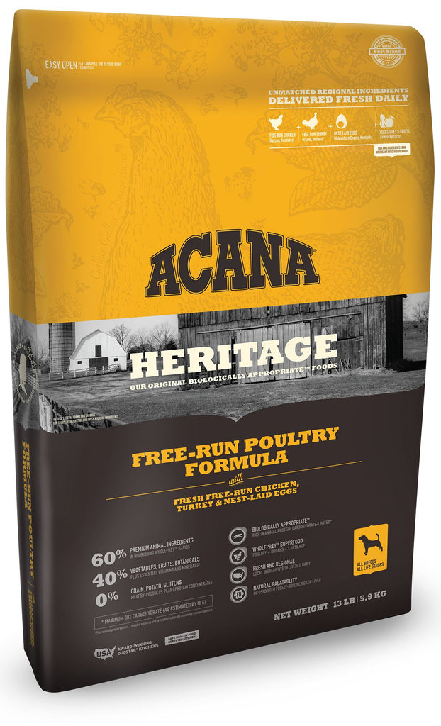 Acana Heritage Free Run Poultry Dog Food - Rocky & Maggie's Pet Boutique and Salon