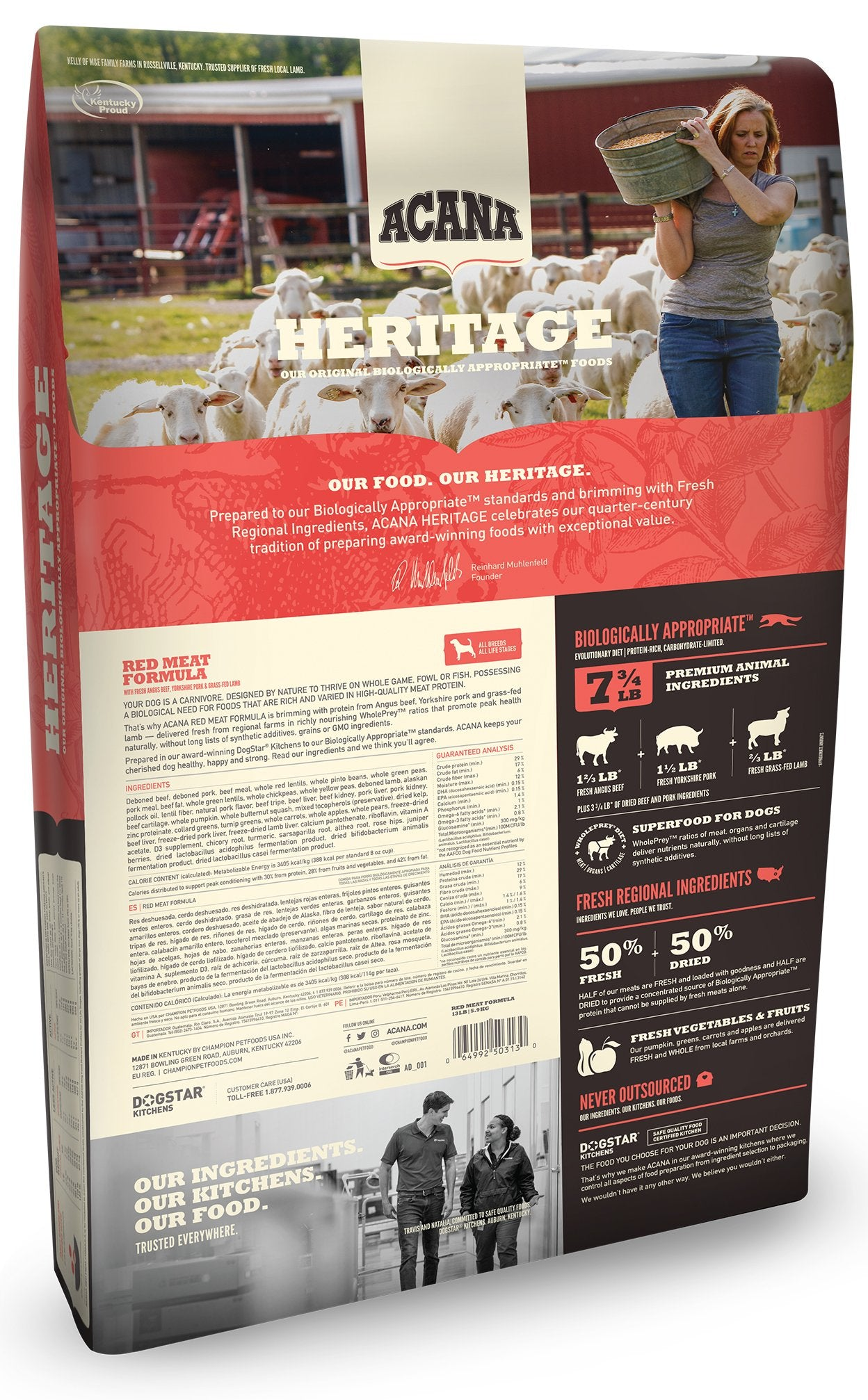 Acana Heritage Red Meat Dog Food - Rocky & Maggie's Pet Boutique and Salon