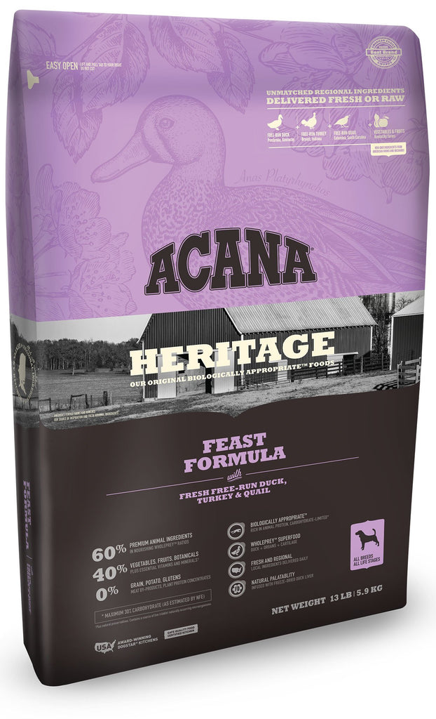 Acana Heritage Feast Dog Food - Rocky & Maggie's Pet Boutique and Salon