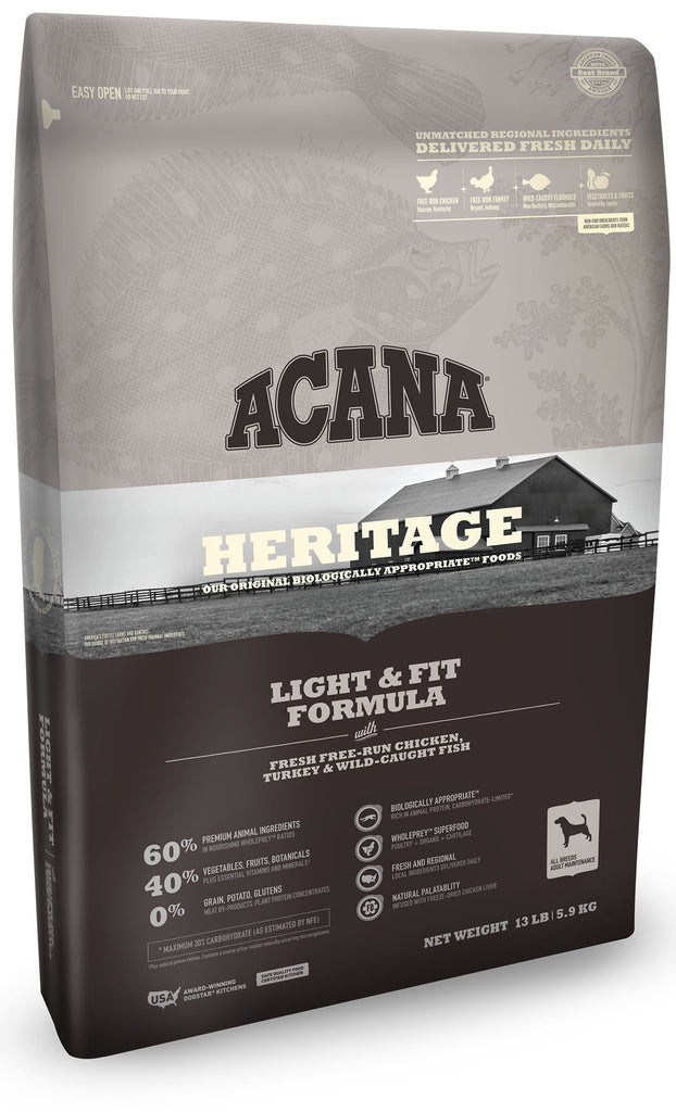 Acana Heritage Light and Fit Dog Food - Rocky & Maggie's Pet Boutique and Salon