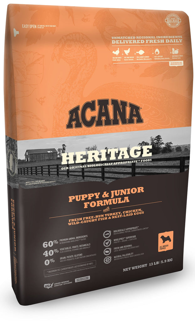 Acana Heritage Puppy and Junior Dog Food - Rocky & Maggie's Pet Boutique and Salon