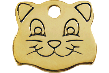 Red Dingo Flat Brass Pet Tag