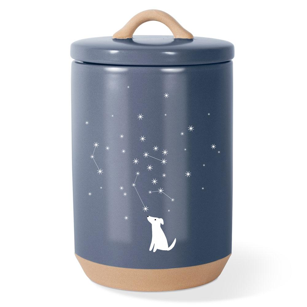 Celestial Dog Beveled Treat Jar - Rocky & Maggie's Pet Boutique and Salon