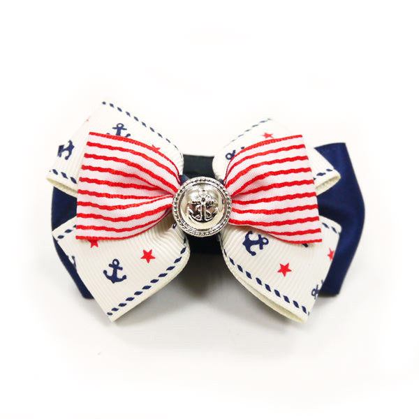 Easy Bow, Nautical Stripes - Rocky & Maggie's Pet Boutique and Salon