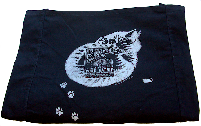 DR. PUSSUMS' CANVAS SHOULDER BAG - Rocky & Maggie's Pet Boutique and Salon