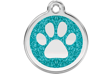 Red Dingo Stainless Steel with Glitter Dog Tag