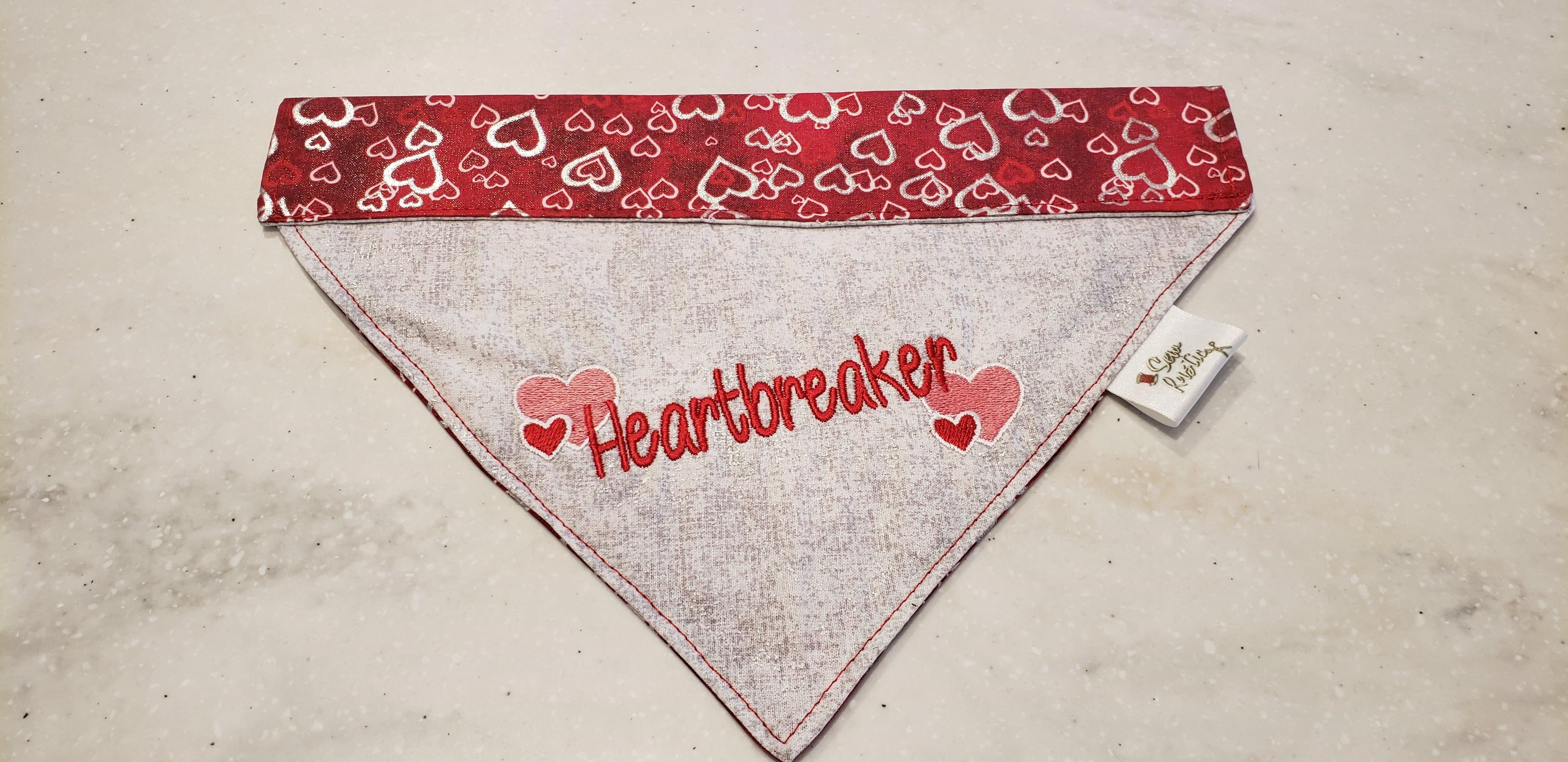 Sewrustic-Embroidered Over The Collar Dog Bandana