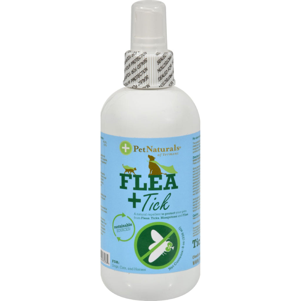 Flea + Tick Spray for Dogs & Cats, 8oz spray bottle