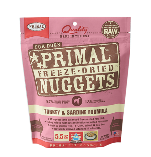 Turkey & Sardine Formula Nuggets Grain-Free Raw Freeze-Dried Dog Food