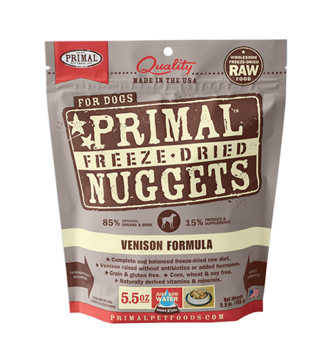 Venison Nuggets Grain-Free Raw Freeze-Dried Dog Food