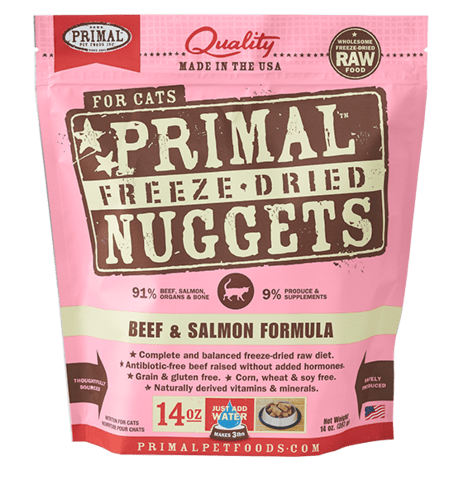 Beef and Salmon Formula Nuggets Grain-Free Raw Freeze-Dried Cat Food - Rocky & Maggie's Pet Boutique and Salon