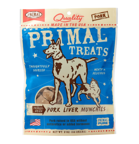 Pork Liver Munchies Freeze-Dried Dog & Cat Treats, 2oz