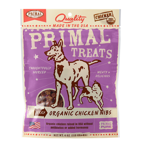 Organic Chicken Nibs Jerky Dog & Cat Treats, 4oz