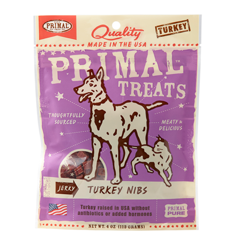 Turkey Nibs Jerky Dog & Cat Treats, 4oz