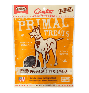 Buffalo Liver Snaps Dry Roasted Dog Treats, 4.25oz - Rocky & Maggie's Pet Boutique and Salon