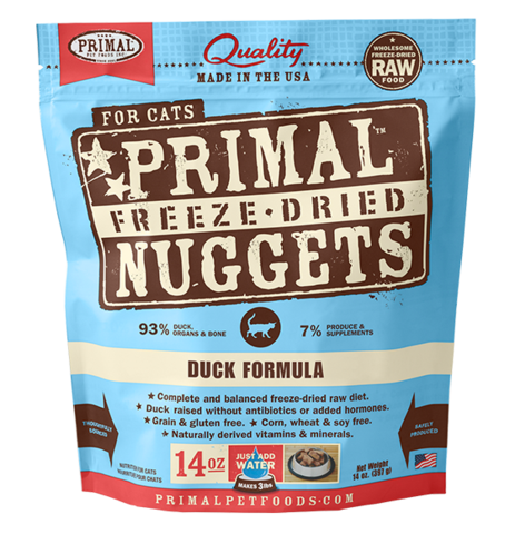 Duck Formula Nuggets Grain-Free Raw Freeze-Dried Cat Food - Rocky & Maggie's Pet Boutique and Salon