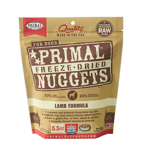 Lamb Formula Nuggets Grain-Free Raw Freeze-Dried Dog Food