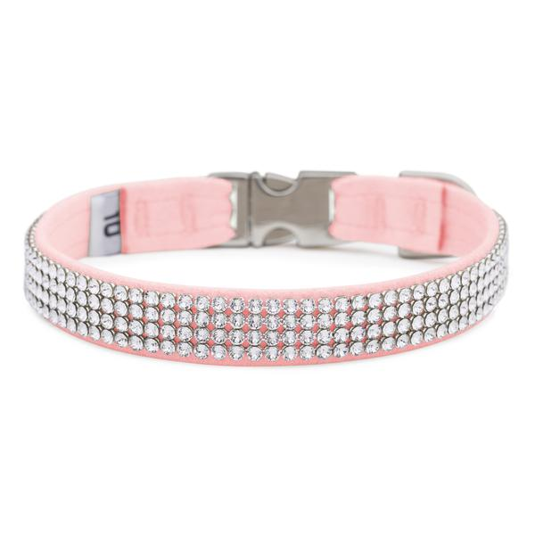 Puppy Pink Giltmore Crystal 4-Row Collar