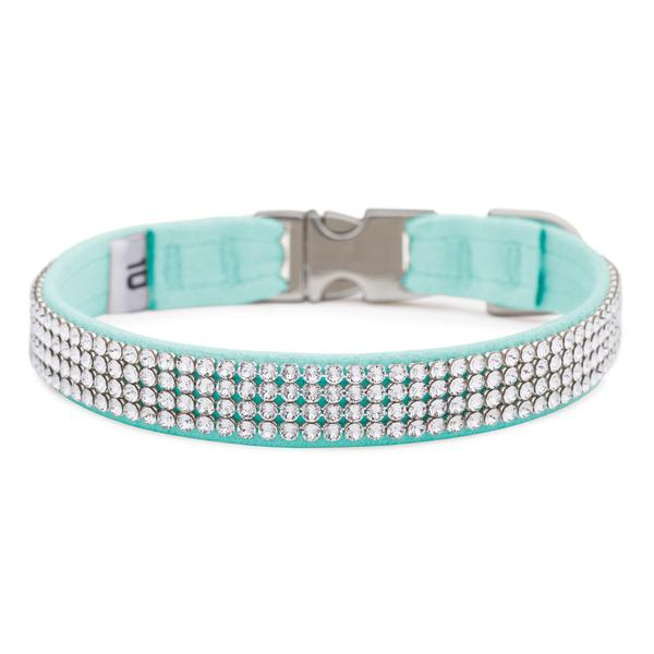Tiffi Blue Giltmore Crystal 4-Row Collar