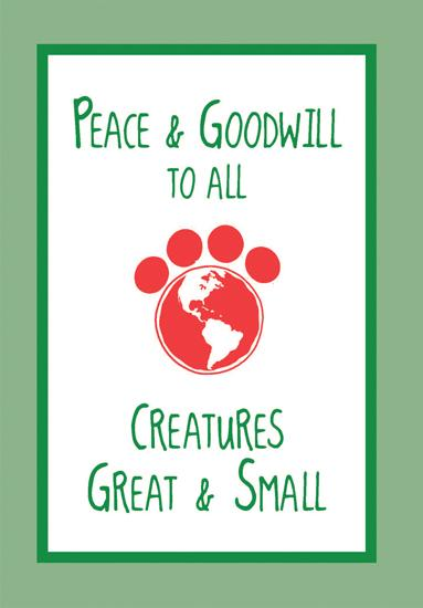 Peace Goodwill Greeting Card