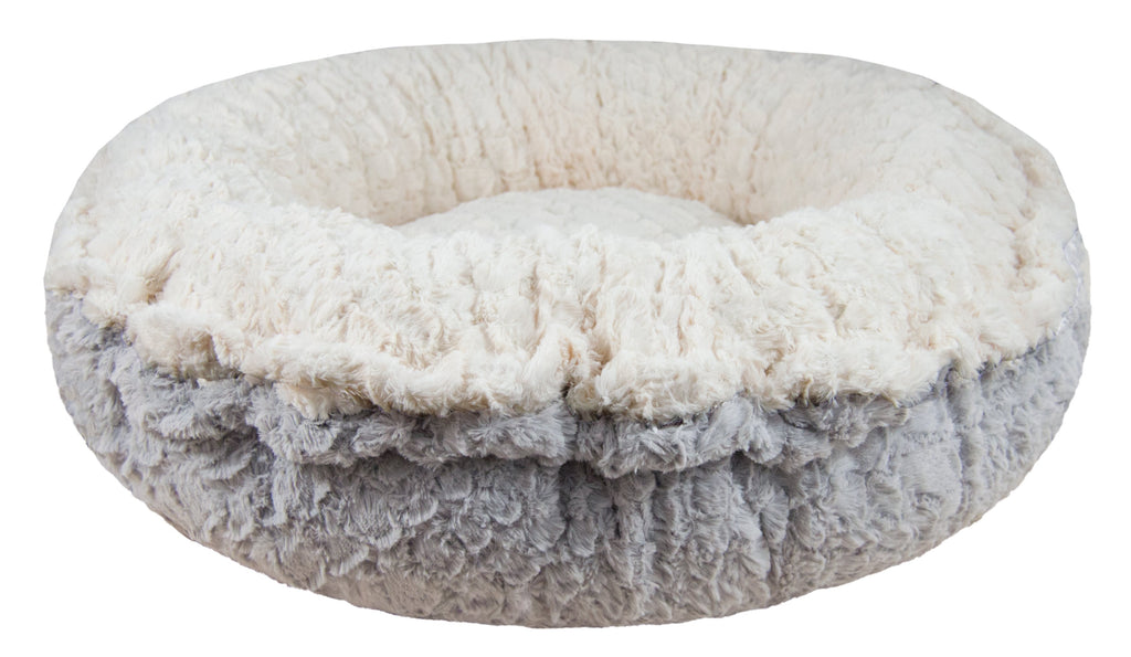 Bagelette Bed - Serenity Grey and Serenity Ivory - Rocky & Maggie's Pet Boutique and Salon