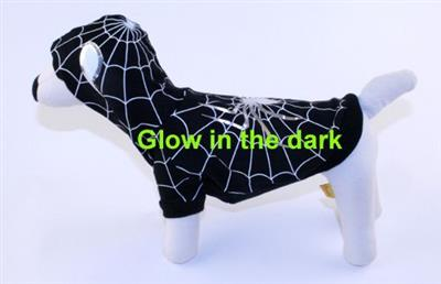 Spider Dog Black (Glow in the dark) Costume - Rocky & Maggie's Pet Boutique and Salon