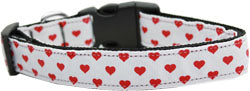 White and red Dotty Hearts Collar. Large
