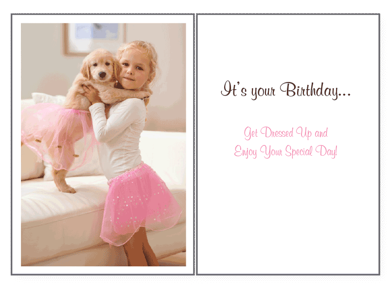 Playing Dress Up Birthday Card