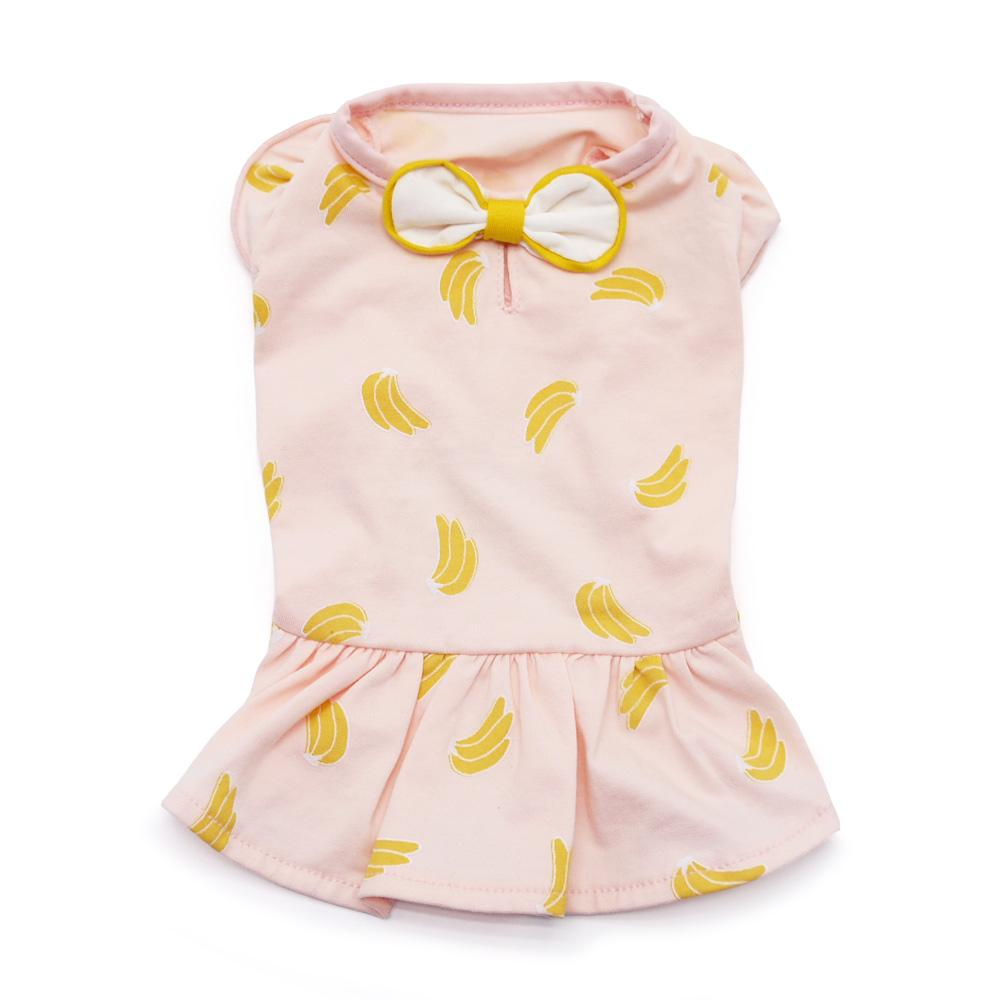 Banana Dress Pink - Rocky & Maggie's Pet Boutique and Salon