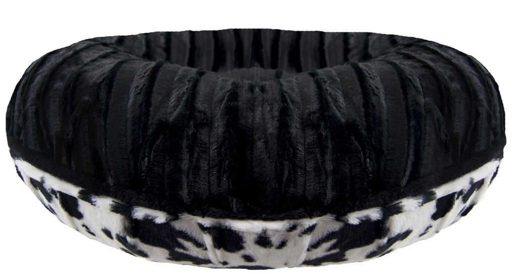Bagel Bed - Black Puma and Spotted Pony - Rocky & Maggie's Pet Boutique and Salon