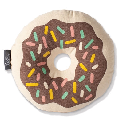Donut Canvas Dog Toy